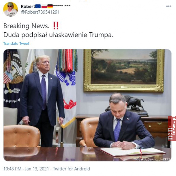 Co by ten Trump bez Dudy zrobił